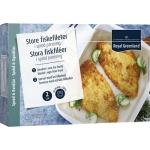 Sprödbakade Fiskfileer Store 2-P 250G Royal Greenland